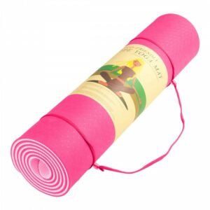 POWERTRAIN ECO FRIENDLY TPE YOGA EXERCISE MAT – PINK 4